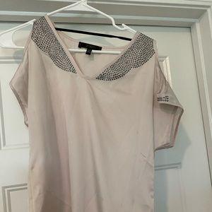 Jessica Simpson shoulder cutout shirt